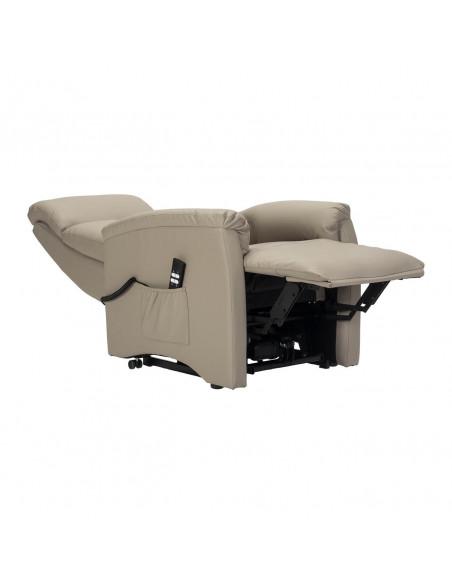 Sillón levantapersona, reclinacion independiente respalto y repozapies. 2 motores. 130kg capacidad. Ignifuga