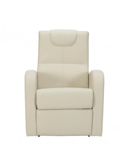Sillón eléctrico reclinacion independiente respaldo/pie 2mot., cuero de imitacion, asiento no deformable. Sillón relax