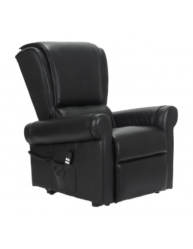 Sillón relax en cuero. Levantapersona, 2 mot movimientos respaldo/pies independientes, gravedad cero, asiento no deformable