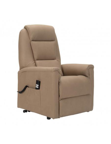 Sillón electrico 2 mot reclinación independiente, levantapersona, asiento no deformable, tejido superior, tamaño medio