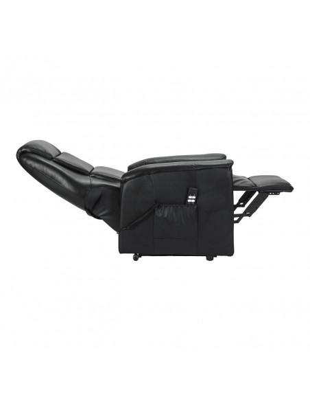 Sillón electrico 2 mot reclinación independiente, levantapersona, asiento no deformable, tapizado en cuero, tamaño medio