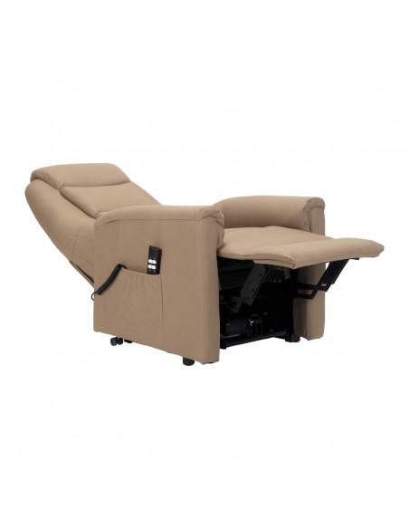 Sillón electrico 2 mot reclinación independiente, levantapersona, asiento no deformable, tejido superior, tamaño small