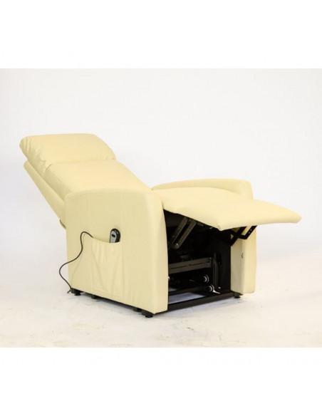 Sillón relax eléctrico, 1 Motor, levantapersona, reclinación combinada, respaldo suave, asiento microresortes no deformable