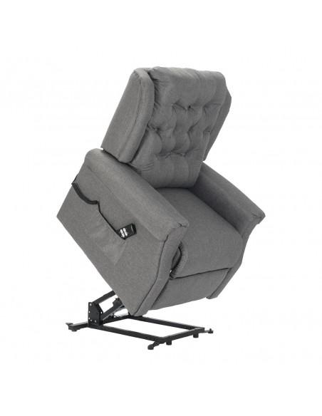 Sillón eléctrico clásico, 2 mot respalto/pies independientes, Respaldo elegante y suave, tela antimancha, asiento no deformable
