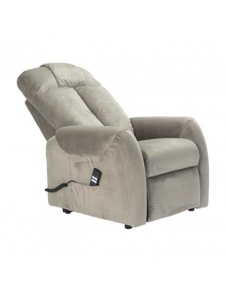 Sillón eléctrico de 2 motores, reclinacio independiente, respaldo suave, terciopelo superior suave, asiento no deformable
