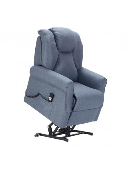Sillón levantapersona 1 mot, respaldo/pies combinados, reposapiés anticipado, respaldo suave, asiento no deformable, antimancha