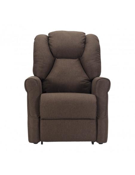 Sillón relax de 2 motores, respaldo/piés independientes, levantapersona, respaldo suave, asiento no deformable, tela antimancha