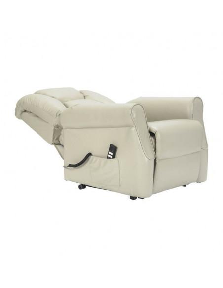 Sillón relax 2 motores, respaldo/piés independientes, levantapersona, respaldo suave, asiento no deformable, tapizado en cuero