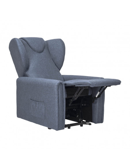 Sillón large reclinable 2 motores, levantapersona, asiento no deformable, orejas laterales, antimancha,  tamaño large 160 kg