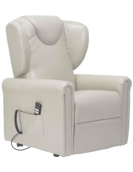 Sillón reclinable de 2 motores, levantapersona, asiento no deformable, cómodas orejas laterales , cuero, tamaño  small, rebajada
