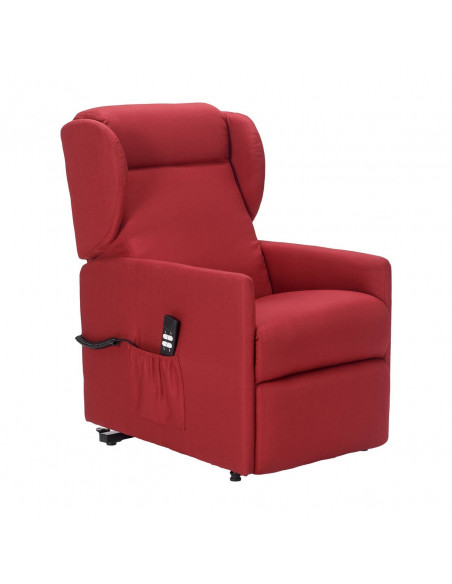 Sillón relax 2mot respalto/reposapies independiente, ancho 58 cm pasa todas las puertas, orejas laterales cómodas, antimancha