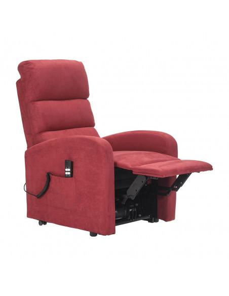 Sillón eléctrico 1 mot, reclinación combinada respaldo/piés, levantapersona, asiento no deformable, respaldo suave, microfibra.