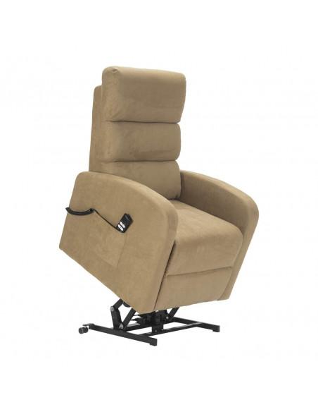 Sillón eléctrico 2 mot reclinacion independiente respaldo/piés, levantapersona, respaldo suave microfibra, asiento no deformable