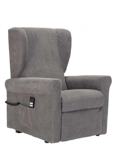 Sillón relax desenfundable, lift 2mot espalda/pies independiente, asinto no deformable, respalto suave, orejas laterales