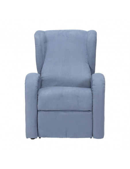 Sillón eléctrico 1 mot, reclinación combinada respaldo/piés, orejas laterales, levantapersona, suaves, asiento no deformable