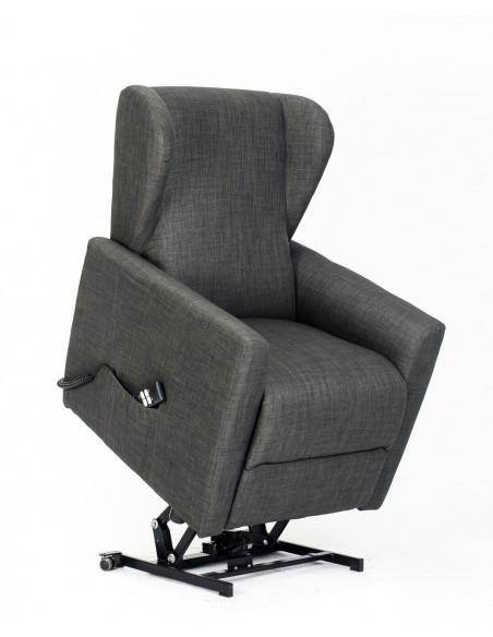 Sillón levantapersonas, 2 motores reclinacion independiente, asiento no deformable, cómodas orejas laterales.