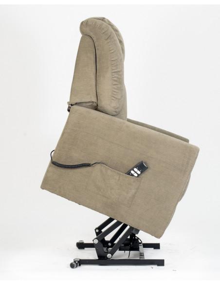 Sillón relax 2 motores, respaldo /piés independientes, levantapersonas, respaldo suave, asiento no deformable cómodo para dormir