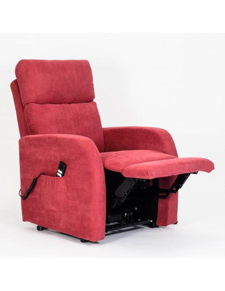 Sillón relax levantapersona, reclinables hasta pos. Cama, 100% desenfundable y lavable , asiento no deformable. 2 mot. 120kg max