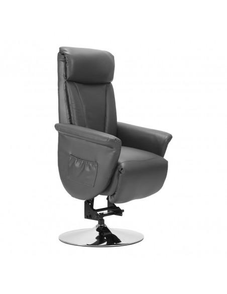 Sillón reclinable de diseño 2 mot., Movimiento de la espalda / pie independiente, levantapersona, girable, en cuero