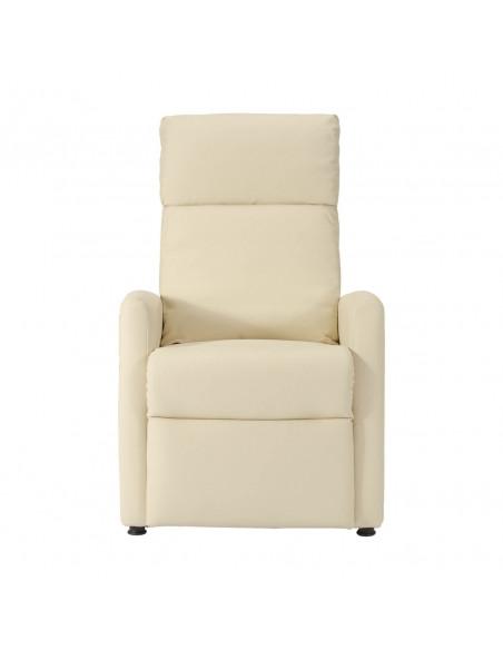 Sillón relax, respaldo/piés reclinables con presión corporal, 3 posiciones: sentado, acostado y TV. cuero de imitación. elegante