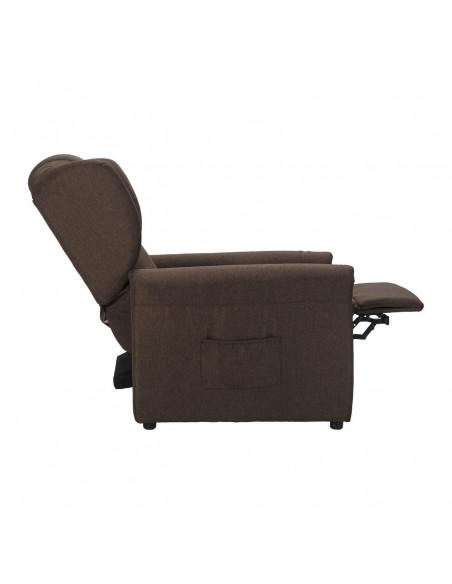 Sillón relax Barbara, respaldo/piés reclinables con presión corporal, 3 posiciones: sentado, acostado y TV. Tejido antimancha